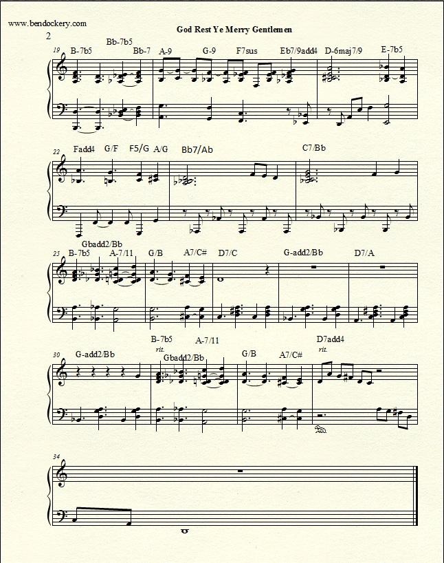 Piano piano trio sheet music : Original Arrangement - Sheet Music - God Rest Ye Merry Gentlemen ...