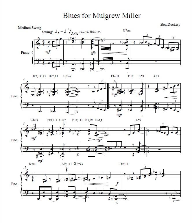 Blues for Mulgrew Miller